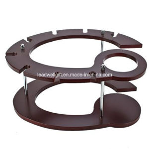 Fashion Creative Red Wine Rack Home Furniture Display Rack pictures & photos