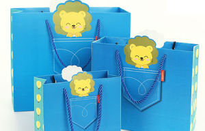 Paper Shopping Gift Present Promotional Coated Art Paper Carrier Carton Picture Packing Bag for Kids/Child (d15) pictures & photos
