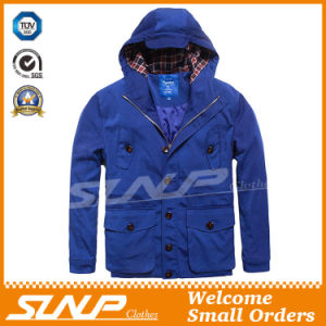 Casual Oversize Hooded Blue Jacket for Men