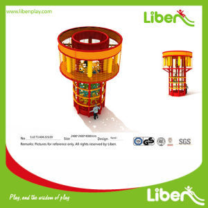 High Quality Indoor Play Round Spider Tower with Tube Slide pictures & photos