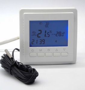 EU Programmable Radiant Floor Thermostat with Double Sensor