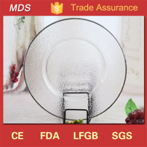 Wedding Clear Glass Silver Rimmed Glass Charger Plate Decoration pictures & photos