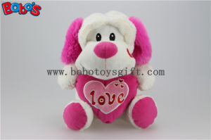 "10"" Wholesale Cute Stuffed Dog Animals Toy with Pink Heart Pillow Bos1165 pictures & photos"