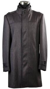 Men′s T/R Fabric Long Coat