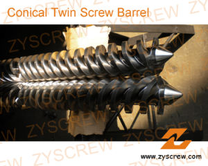 Twin Conical Screw Barrel Double Screw Barrel PVC PP PE Sheet Profile Granules pictures & photos