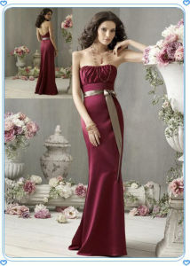 Maxi Burgundy Evening Dress Backless Graceful pictures & photos