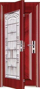 Decorated High Quality Security Steel Exterior Door