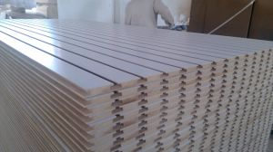 12/15/18mm Wall Grooved Slotted MDF Board /Melamine MDF Board pictures & photos