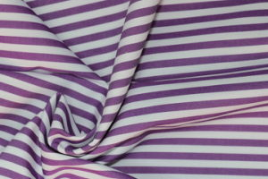 Purple/White Stripes 60 Cotton 40 Polyester Twill Yarn Dyed Fabric pictures & photos
