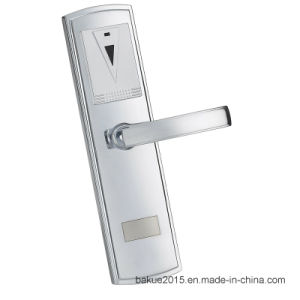 High Security Electronic RFID Card Hotel Door Lock, Digital Lock in Plated Nickel pictures & photos