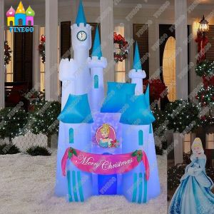 Cheap Inflatable Christmas LED Lights Castle for Sale pictures & photos