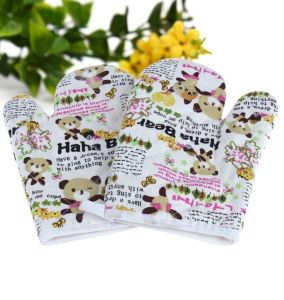 Promotion Custom Logo Kitchen Set Oven Mitts pictures & photos