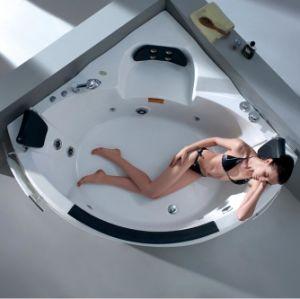 Triangle Corner High-End Massage Couple Bathtub (M-2019) pictures & photos
