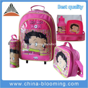 Rolling Student Stationery Back to School Trolley Backpack Bag pictures & photos
