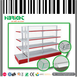 Wire Mesh Back Panel Retailing Store Double Sided Shelving Racks pictures & photos