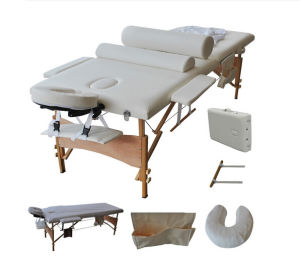 2 Sections Wooden Folding Massage Bed with Fulll Accessary