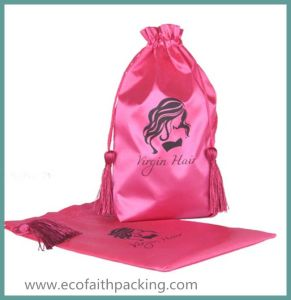 Top Quality Satin Promotional Gifts Package Bag with Tassels