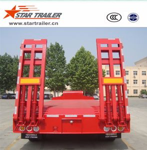 2 Axles Heavy Duty Low Boy Semi-Trailer pictures & photos
