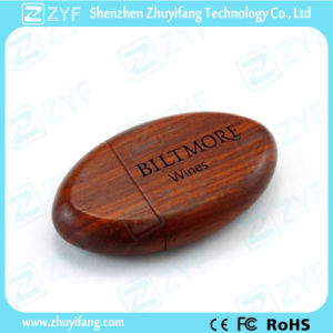 Oval Wood 8GB USB Stick with Custom Logo (ZYF1346) pictures & photos