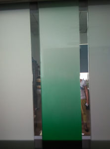 Gradient Changed Green and White Color Smart Glass for Showroom pictures & photos