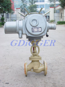 Electric Flanged End Oxygen Globe Valve pictures & photos