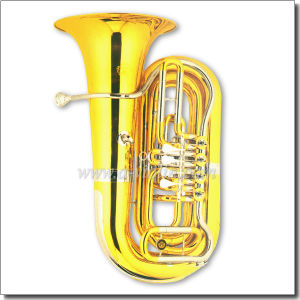 4 Valves Bb Key Gold Lacquer Rotary Tuba (TU9915) pictures & photos