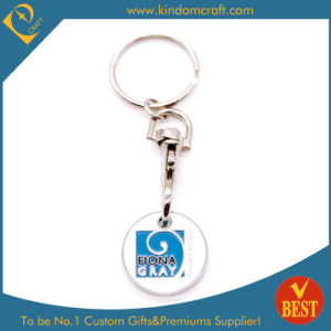 Custom Wholesale Metal Trolley Coin Key Chain pictures & photos