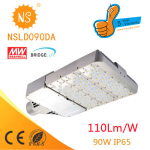 CE/RoHS Birdgelux Chip Mean Well Driver 90W LED Street Light