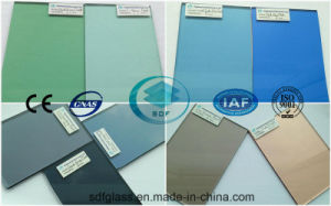 Colored/Tinted Float Glass (4mm to 10mm) with Ce, ISO