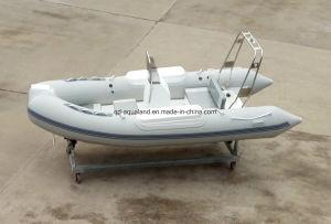 Aqualand 14feet 4.2m Rigid Inflatable Motor Boat/Rib Rescue Boat (RIB420B) pictures & photos