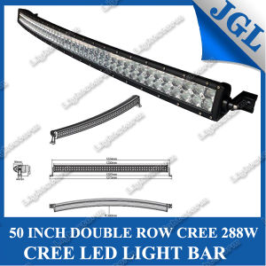 Double Row CREE Curved 288W LED Light Bar for Truck/Tractor/ATV/SUV/Boat