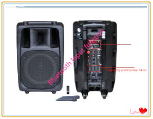 Big Power Trolley Battery Speaker with Bt +2 Mic (MJ-1810F)