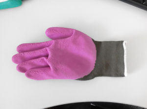 Polyester Shell Foam Latex Coated Safety Work Glove (L2401) pictures & photos