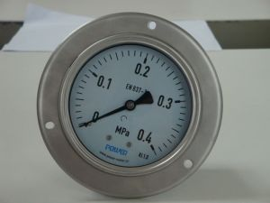 Ybf100bd 100mm 4 Inch Full Stainless Steel Pressure Gauge Manometer with Three Holes Flange pictures & photos