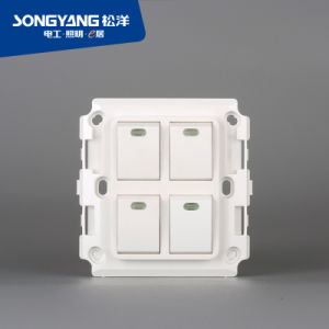 New Electric Switch White Series 4gang Wall Switch pictures & photos