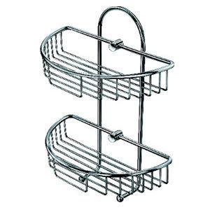 Semicircular Double Tier Brass Bathroom Shelf (ZW-585) pictures & photos