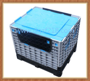 Superior Collapsible Plastic Pallet Box with Lid for Sale pictures & photos