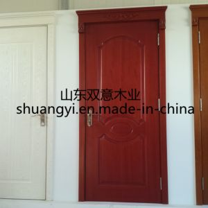Bedroom Entrance Main Teak Wood Door Design pictures & photos