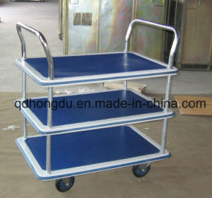 Three Layers of Service Tool Trolley Cart pictures & photos