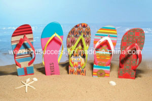Newly Beach Custom Metal Decorative Wholesale Rhinestone Flip Flops pictures & photos