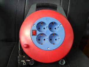 Europen 4 Sockets Cable Reel (PT-312)