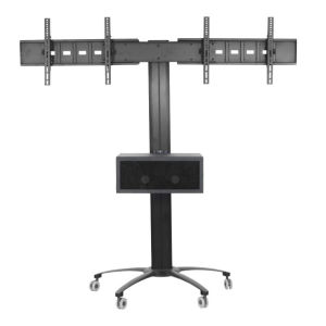 "Public TV Floor Stand Dual Screens 30-60"" (AVA 203A) pictures & photos"