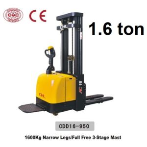 1.6 Ton Electric Stacker with Good Price (CDD16-950) pictures & photos