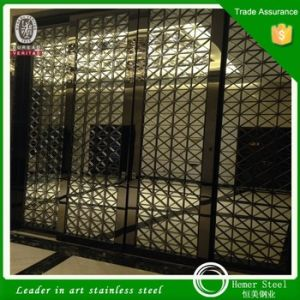 Stainless Steel Wall Panels Home Metal Screen Manufacturers Custom Color Laser Cutting Partition pictures & photos