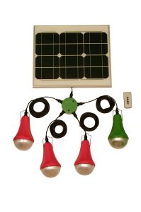 20W Solar Lighting System DC Solar Lighting Home Power Kit with 4PCS LED Bulbs pictures & photos