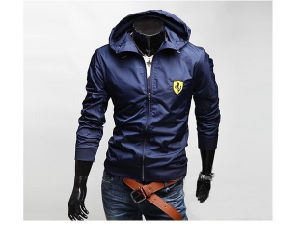 2015 New Style Zipper Men′s Fashion Jacket with Hoody
