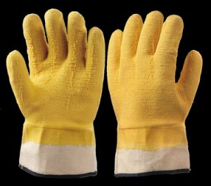 Latex or Rubber or PU Coated Safety Working Gloves En388 Standard pictures & photos