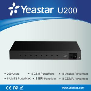 Yeastar 200 Users PSTN/ Bri /GSM Ports VoIP IP PBX System (MyPBXU200) pictures & photos