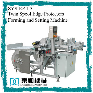 Twin Spool Edge Rpotectors Forming and Setting Machine (SYS-ET 1-3) pictures & photos