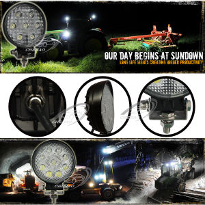 "21W/27W 4.5"" Round Spot/Flood LED Headlight"